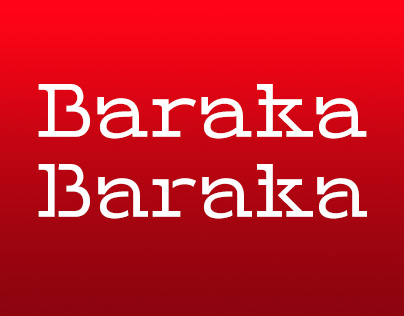 Baraka - display typeface