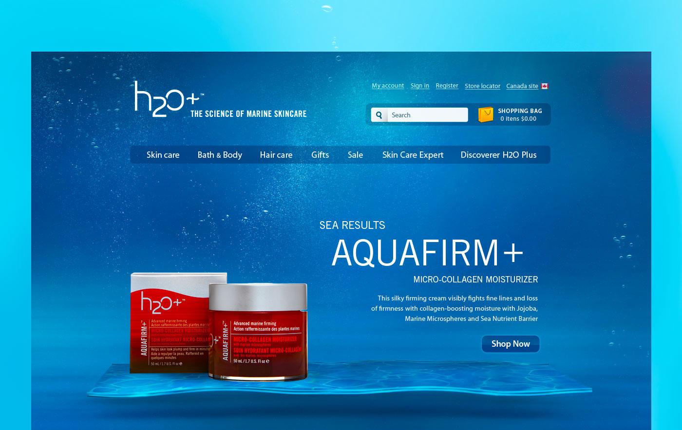 H2O Plus - Site institucional