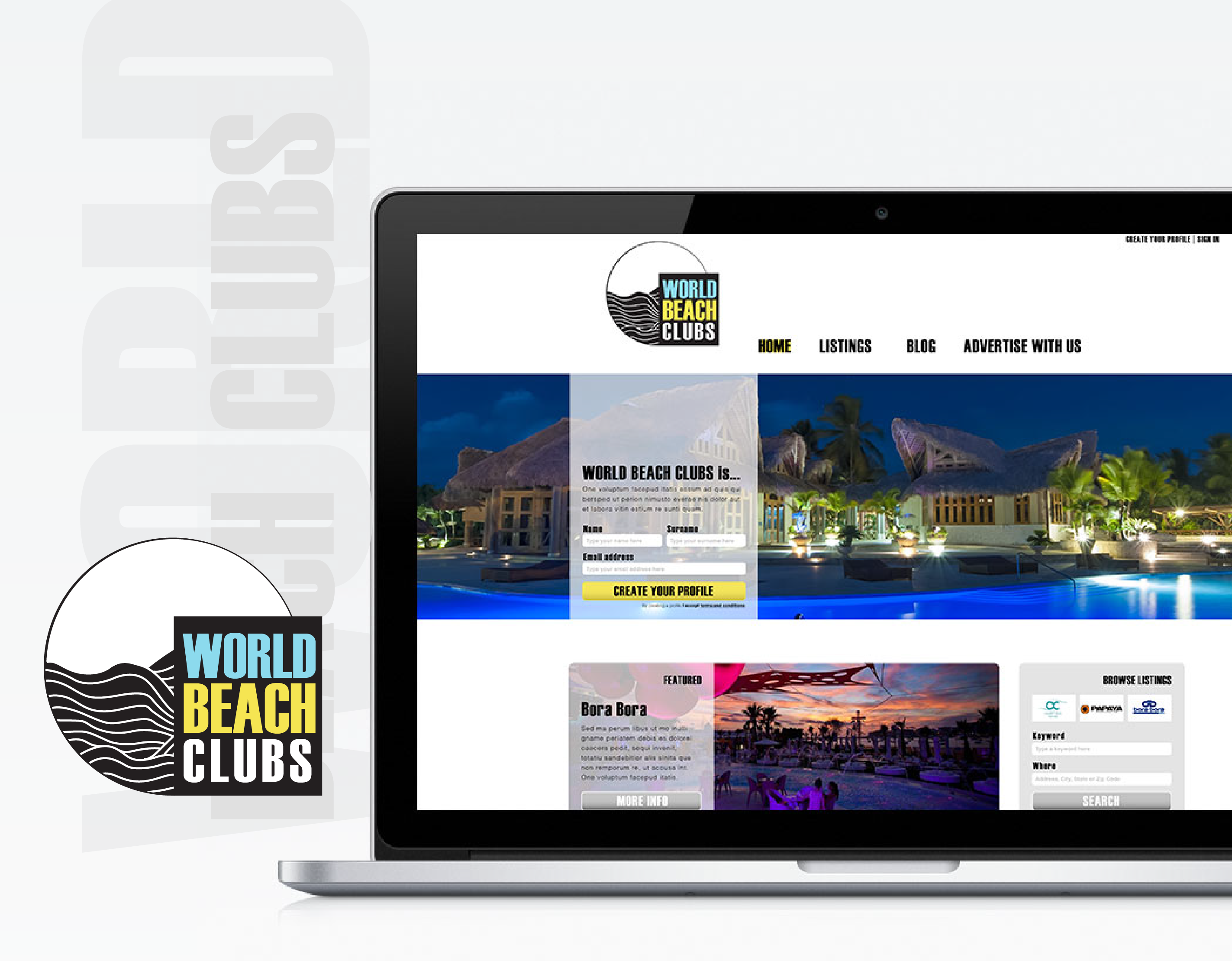 WORLD BEACH CLUBES CORPORATE REDESIGN - JUN 2013