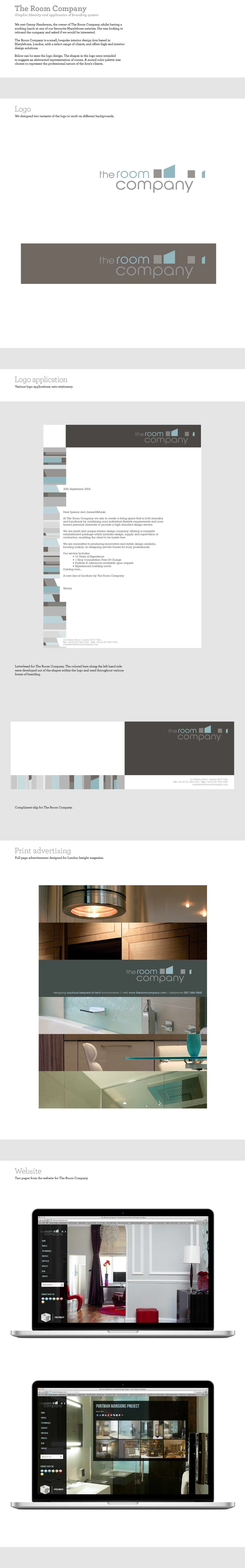 The Room Company - Graphic Idnetity