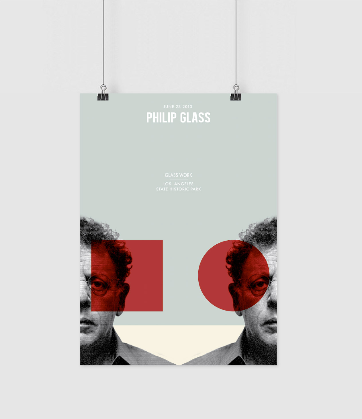 Philip Glass poster design