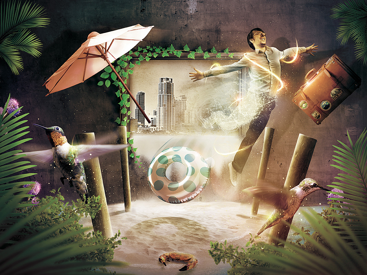 "FOTOLIA contest - ""Two dimensions"""