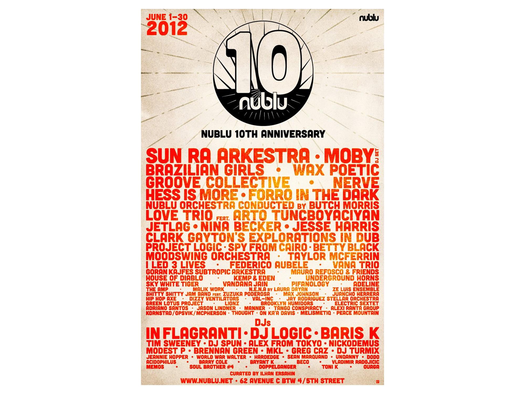 Nublu 10th Annivesary Logo & Poster