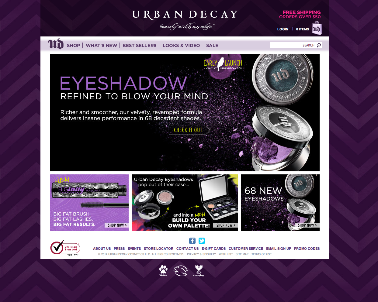 Urban Decay UX redesign