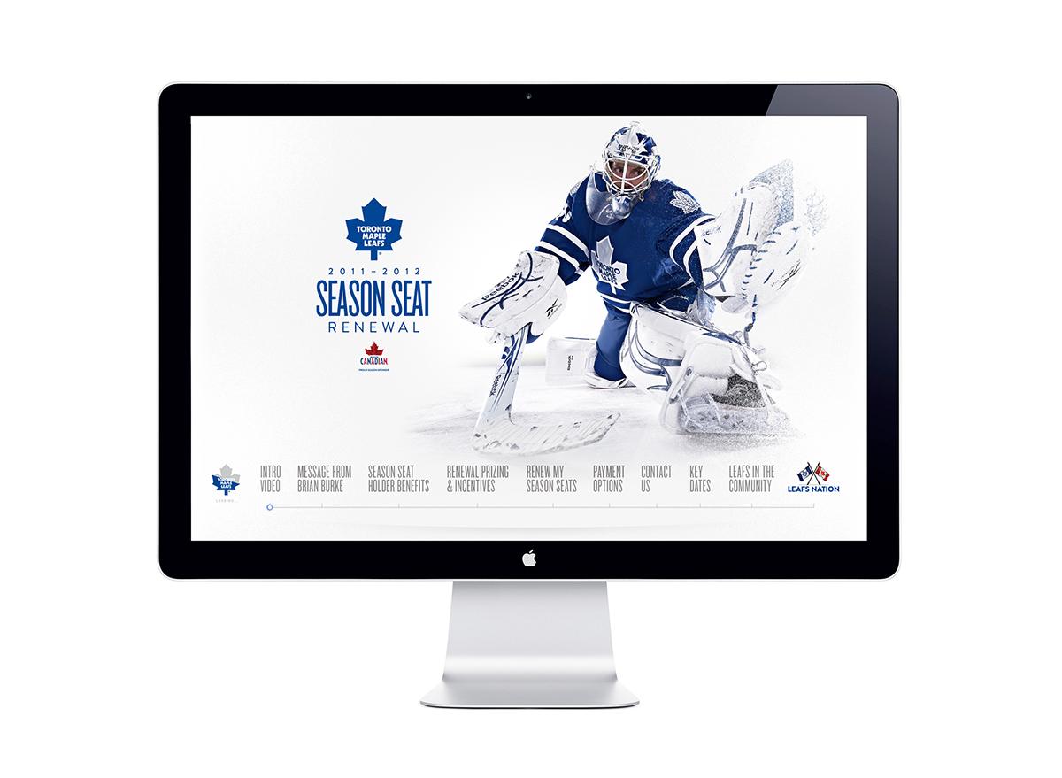 Toronto Maple Leafs 2011-2012 Season Seat Renewal site