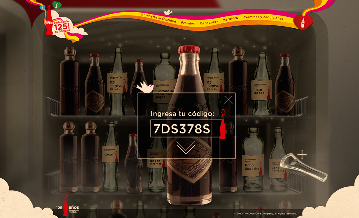 Coca-Cola 125 years minisite