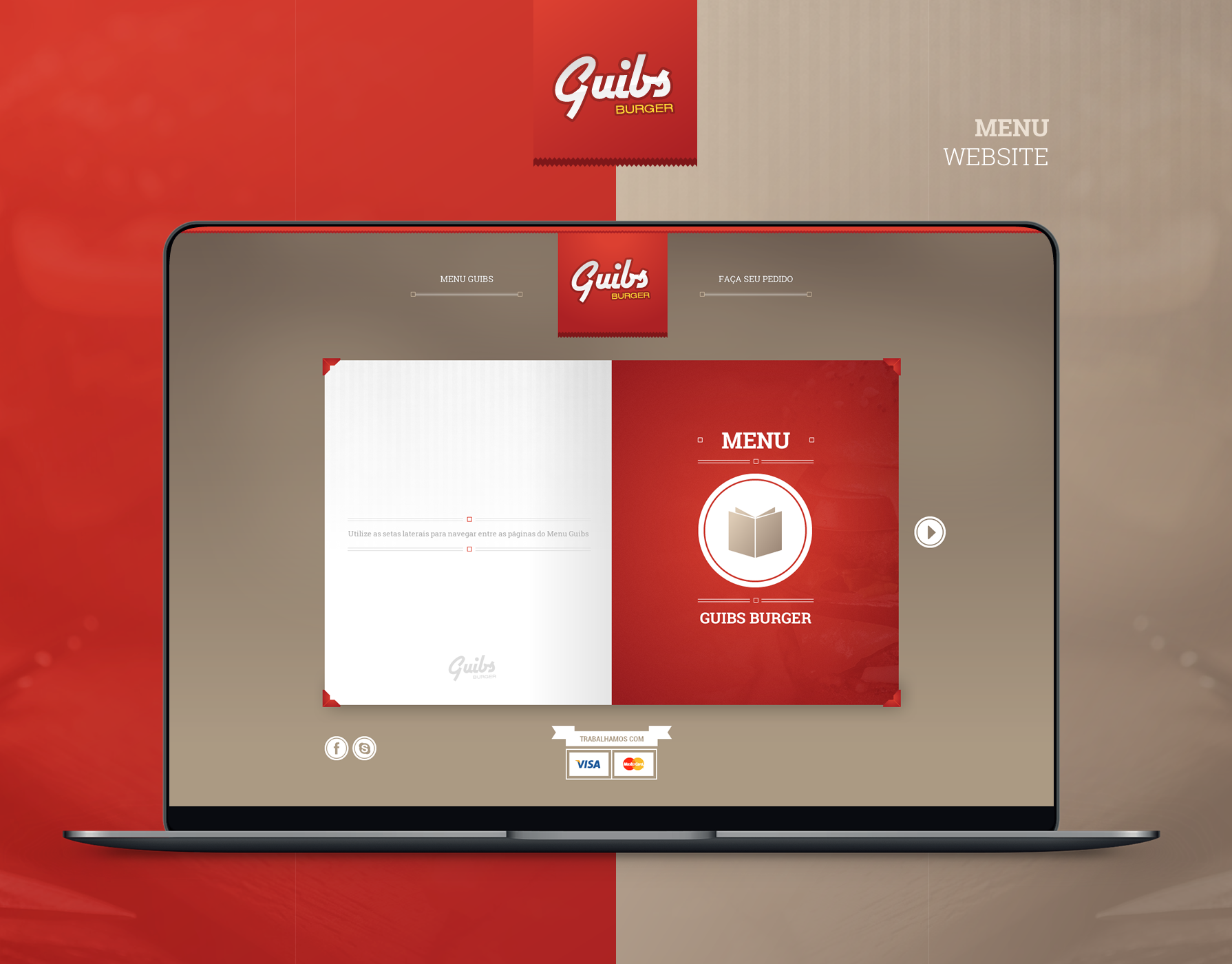 Guibs Burger - Menu Website