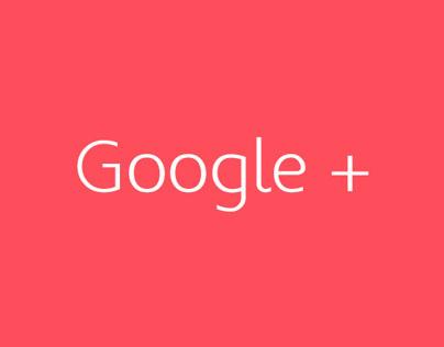 Google+ Redesigned Concept