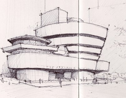 NY & Chicago Architecture Sketches