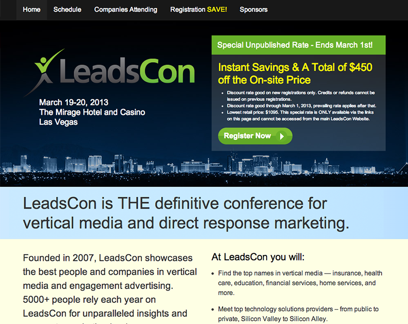 LeadsCon Landing Page Design and Management System
