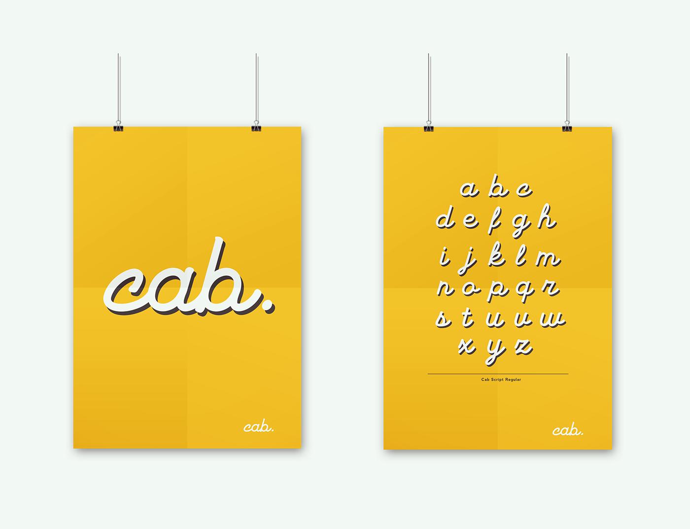 Cab Typeface