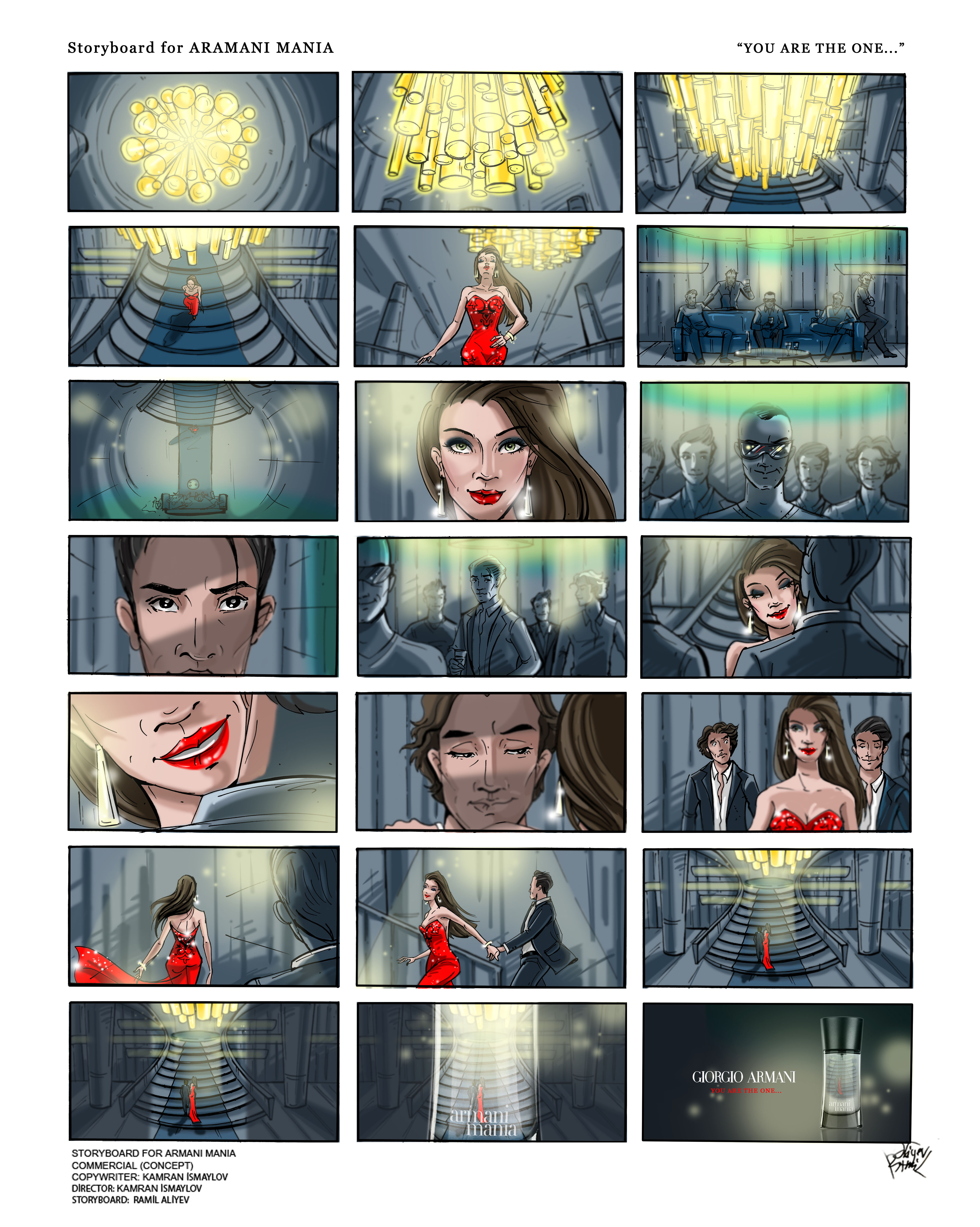 Storyboards for adv.projects,short films & music video