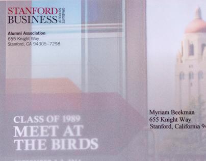 Stanford GSB 25th Reunion invitation envelope