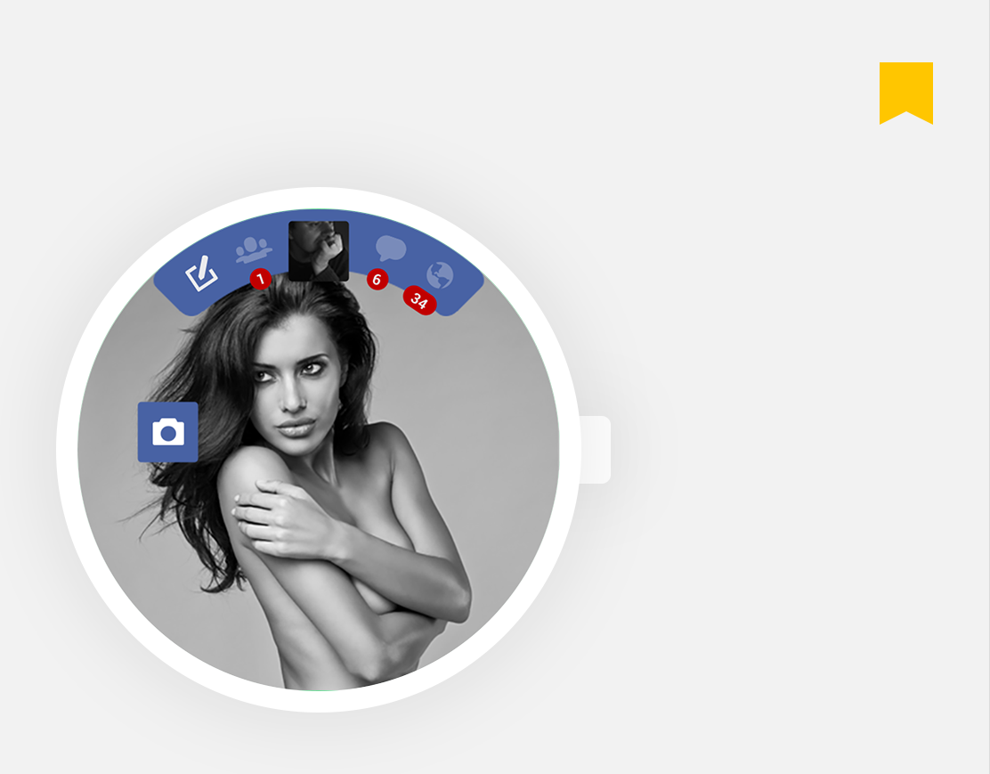 facebook - android wear app concept