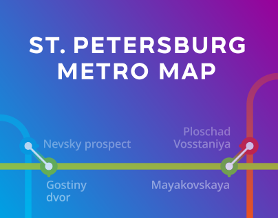 St.Petersburg Metro Map