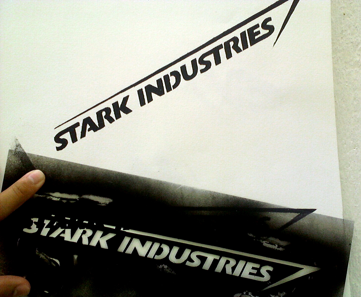Stark Industries Stencil