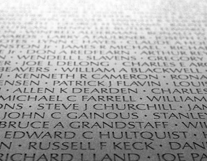 Reflections of the Vietnam Veteran Memorial