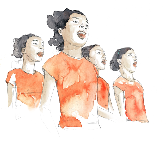 Malagasy Gospel Choir - Illustrations