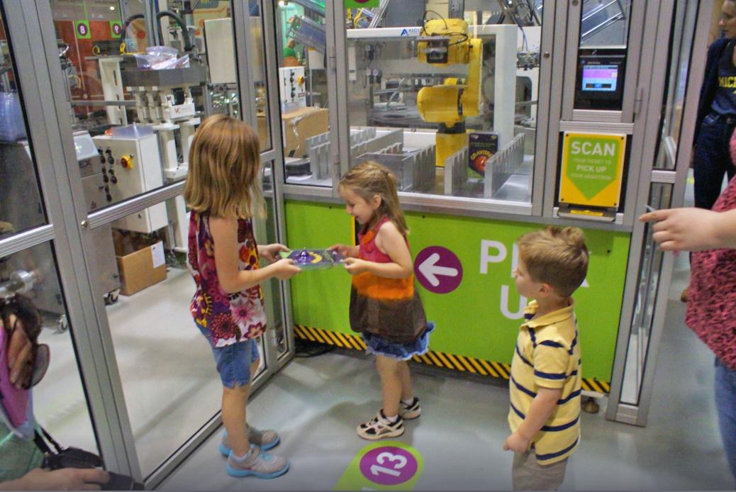 Toymaker 3000 exhibit wayfinding
