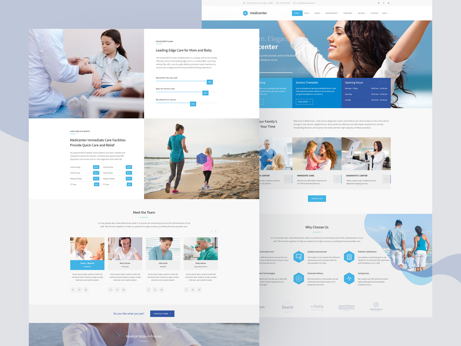 MediCenter – Responsive Medical Health Template