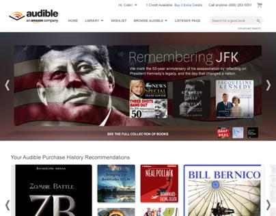 Audibles Desktop Site