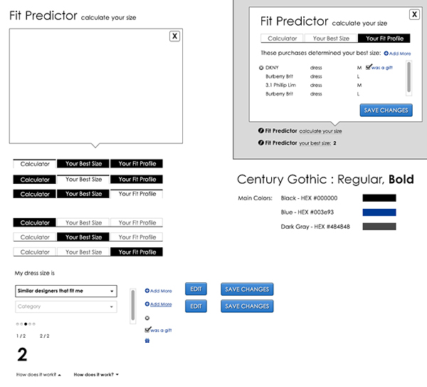 Fit Predictor UI & Mobile