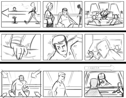 Esurance/Star Trek Commercial Storyboards