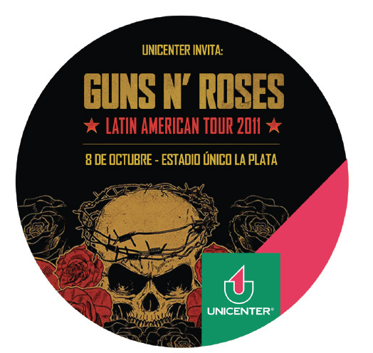 Unicenter te invita a ver a Guns n´ Roses