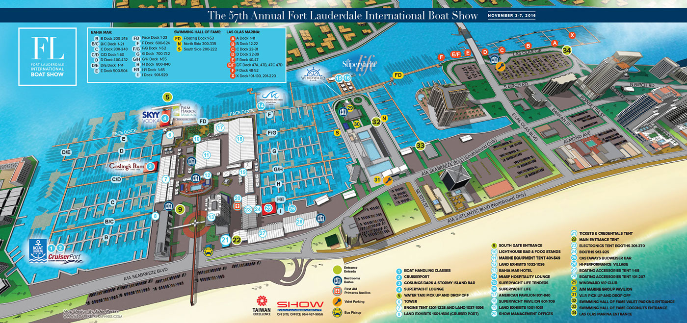 Fort Lauderdale International Boat Show Maps 2013