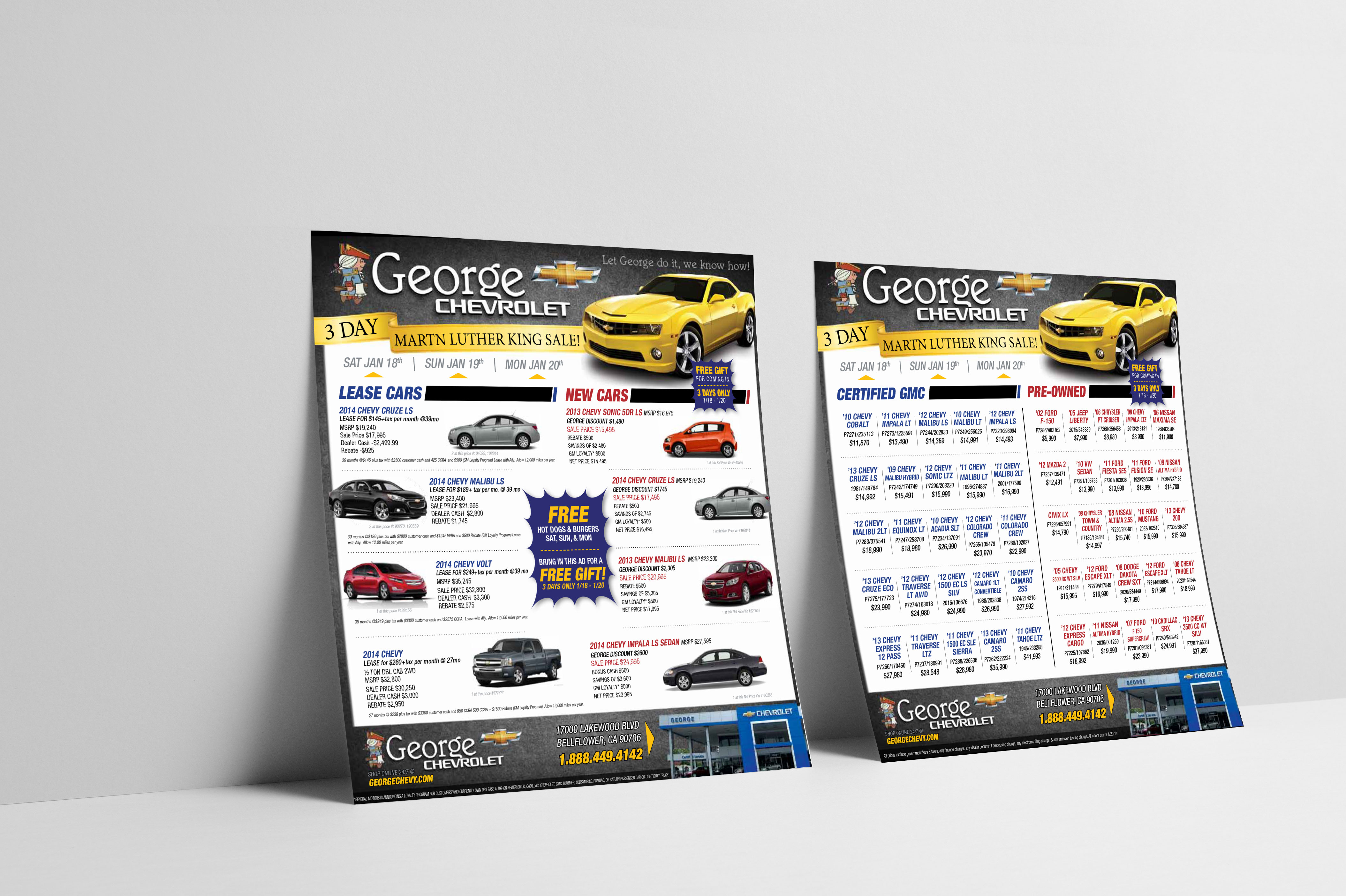George Chevrolet : Portfolio example