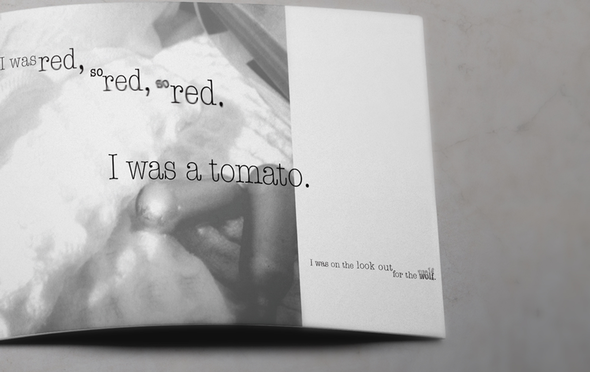 Little Red Riding Hood a poem by Ania Walwicz.