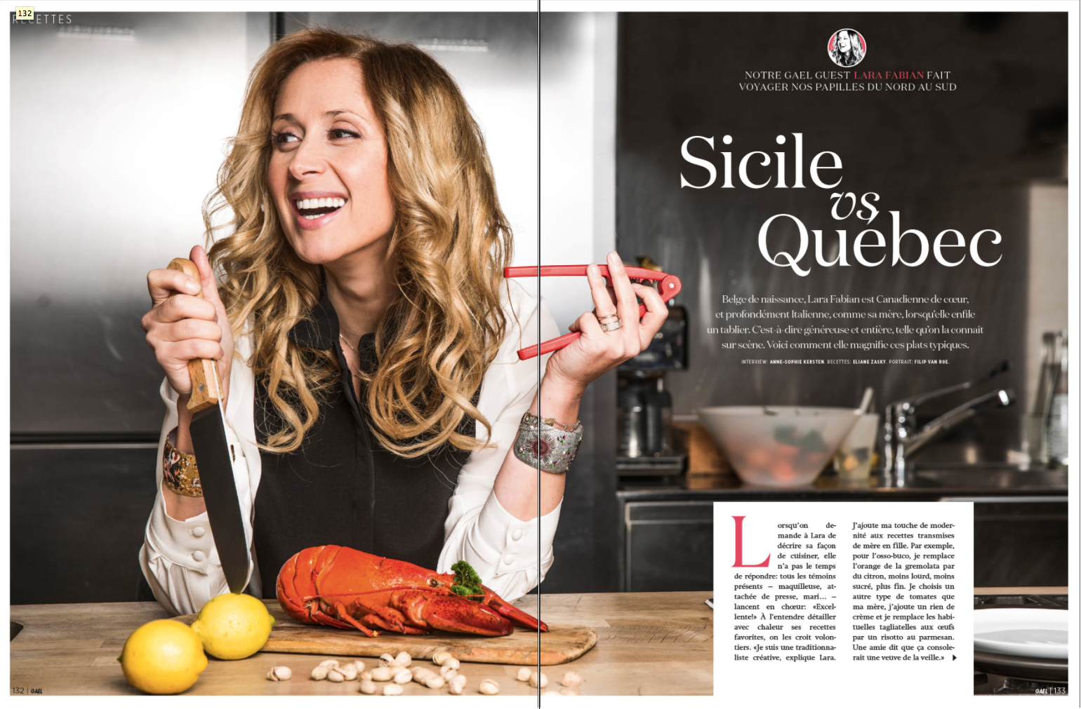 Lara Fabian - Editorial