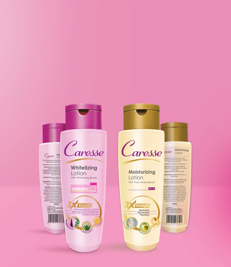 Caresse Lotion Label Design