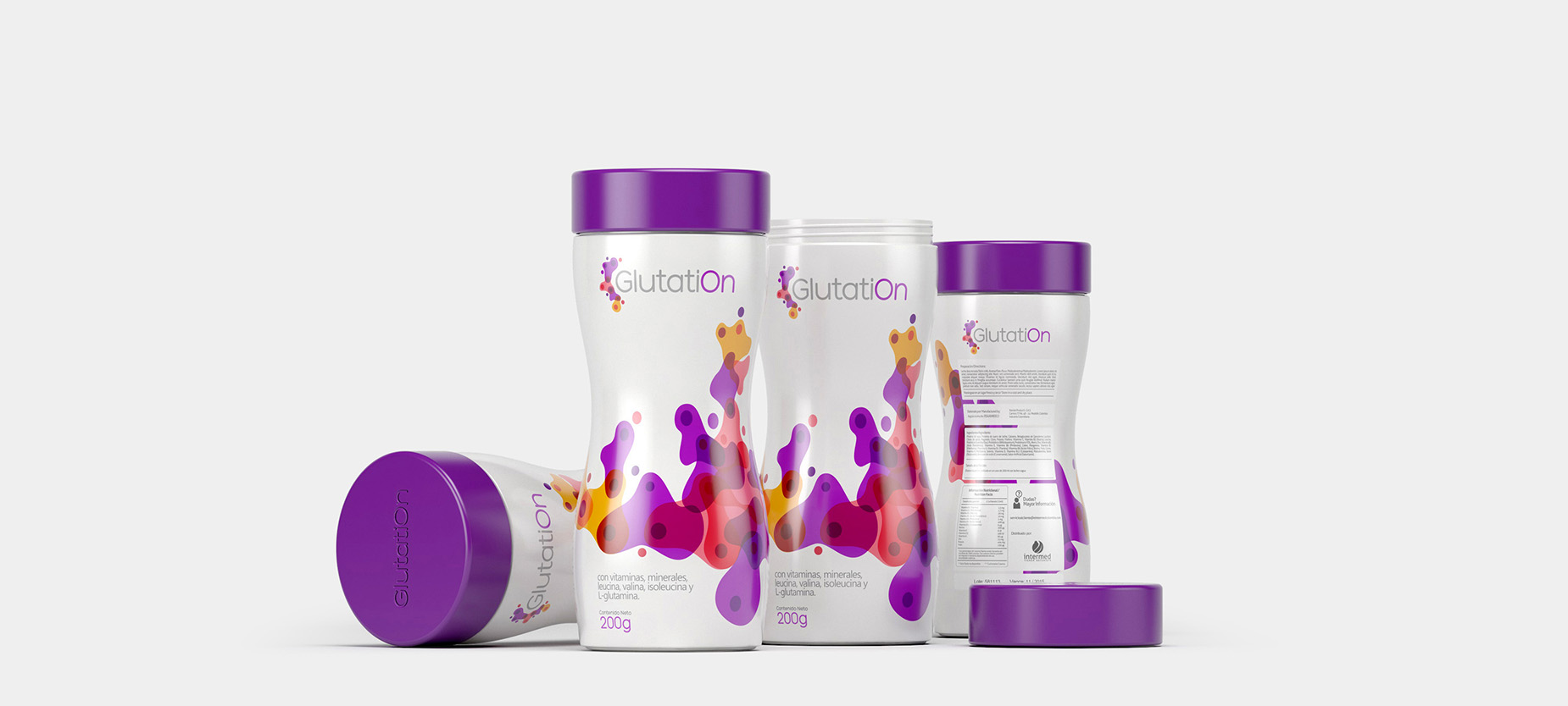 GlutatiOn - Logo and Packaging