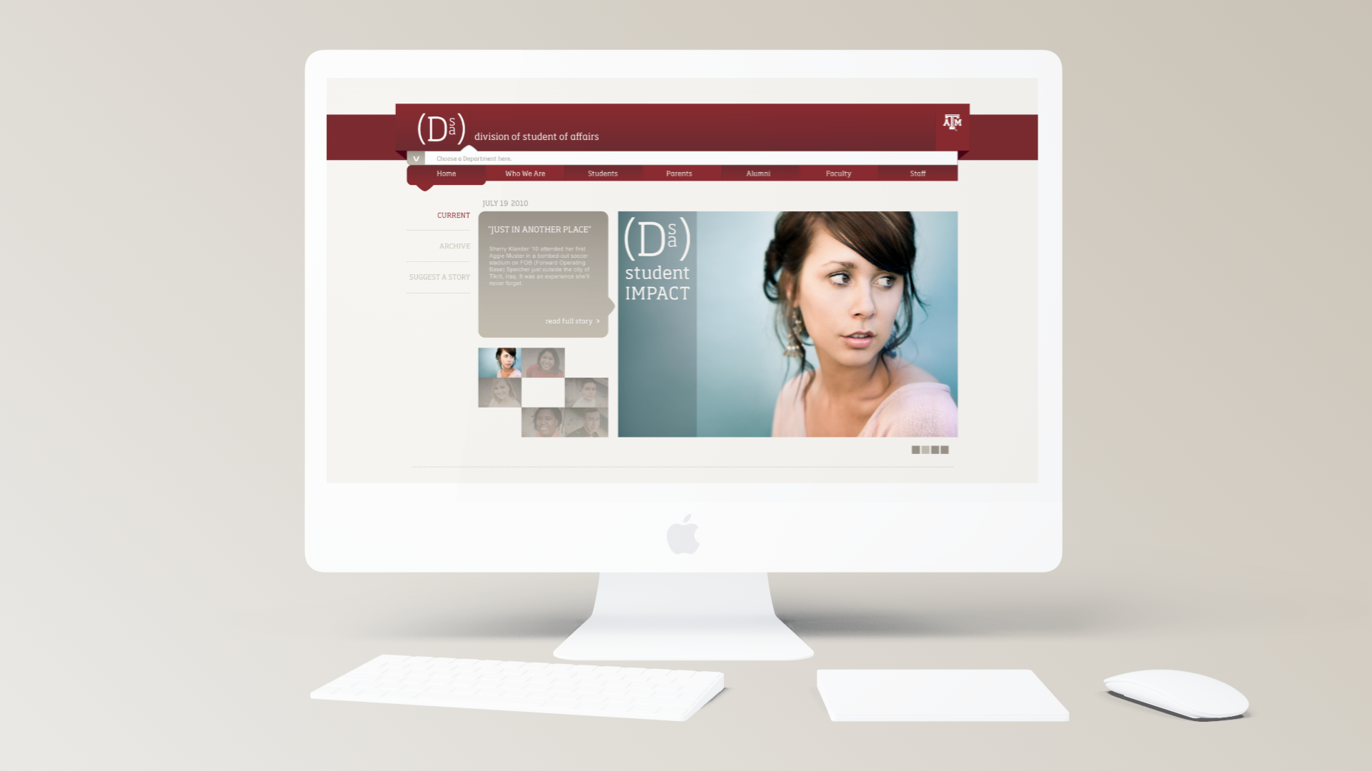 Texas A&M Division of Student Affairs - Web Design
