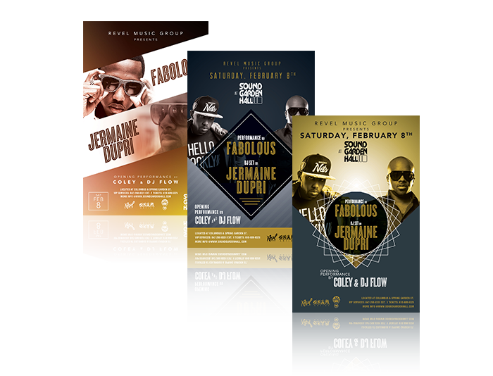 Revel Music Group Promotional Materials