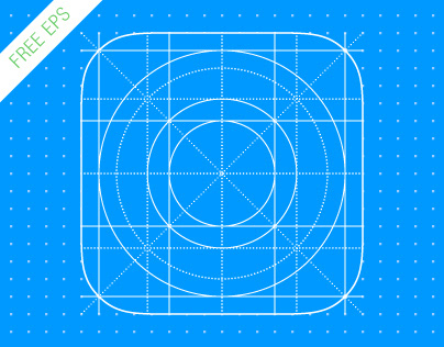 FREE Template iOS 7 Icon Grid EPS 8 vector illustration