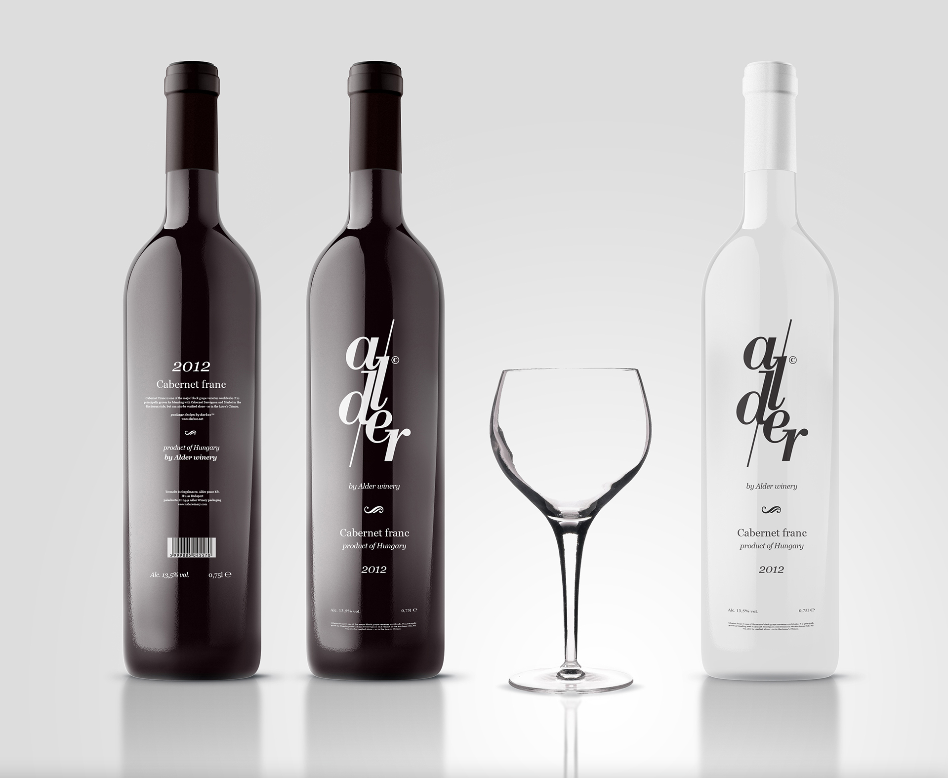 Alder© winery packaging and identity