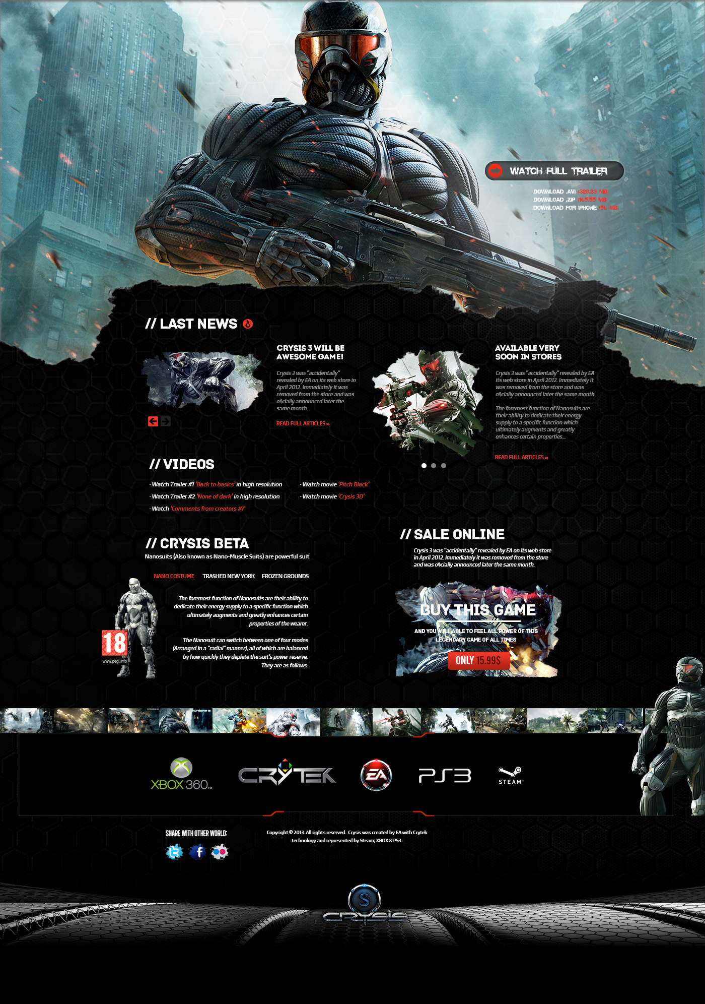 Crysis Web Template