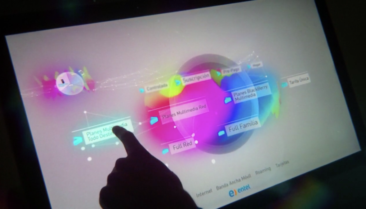entel / Multi-touch interactive Display