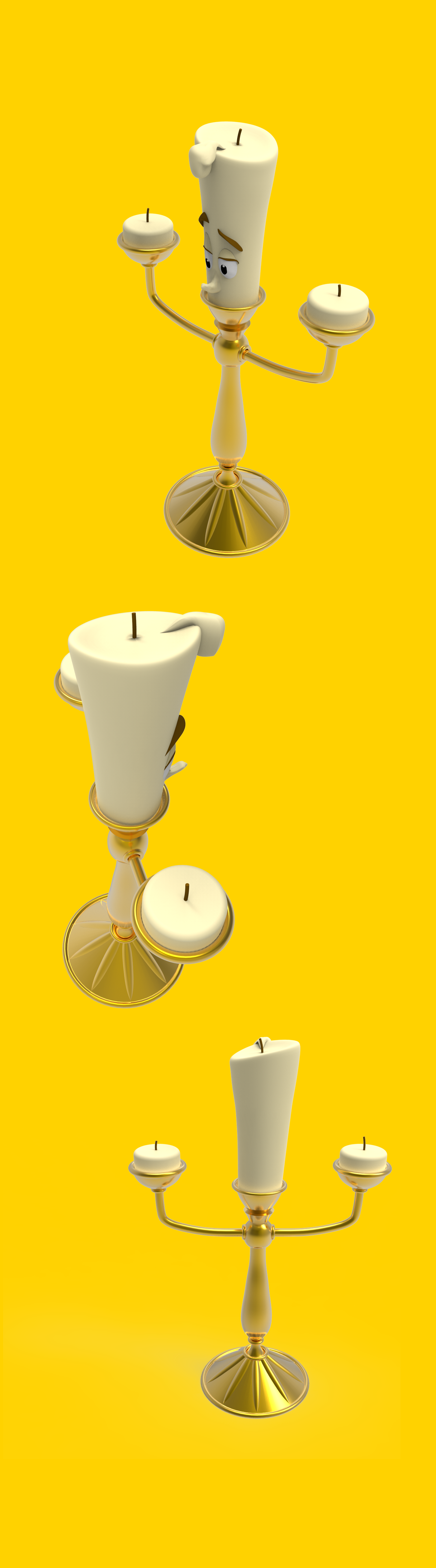 3d modelling: Lumière (Beauty and the Beast)