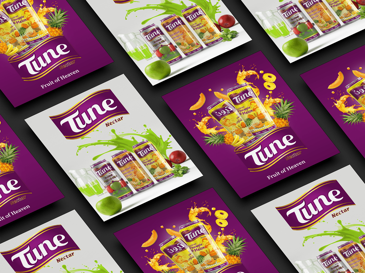 TUNE Juice - Brand Development & Packaging Design
