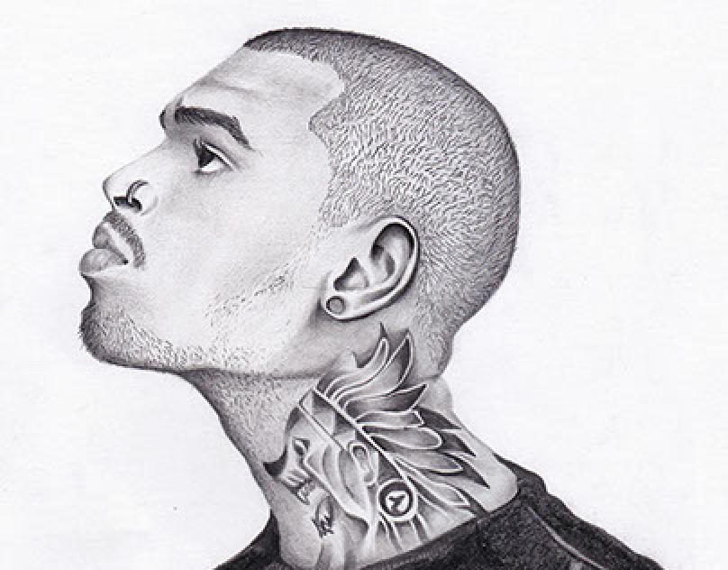 Chris Brown Sketching