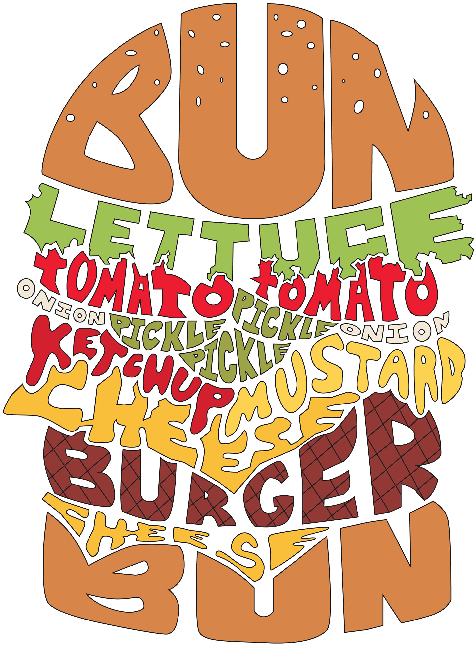 Typographic Burger