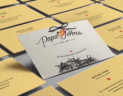 Corporate Identity Re-Design | Papa Johns Pizza