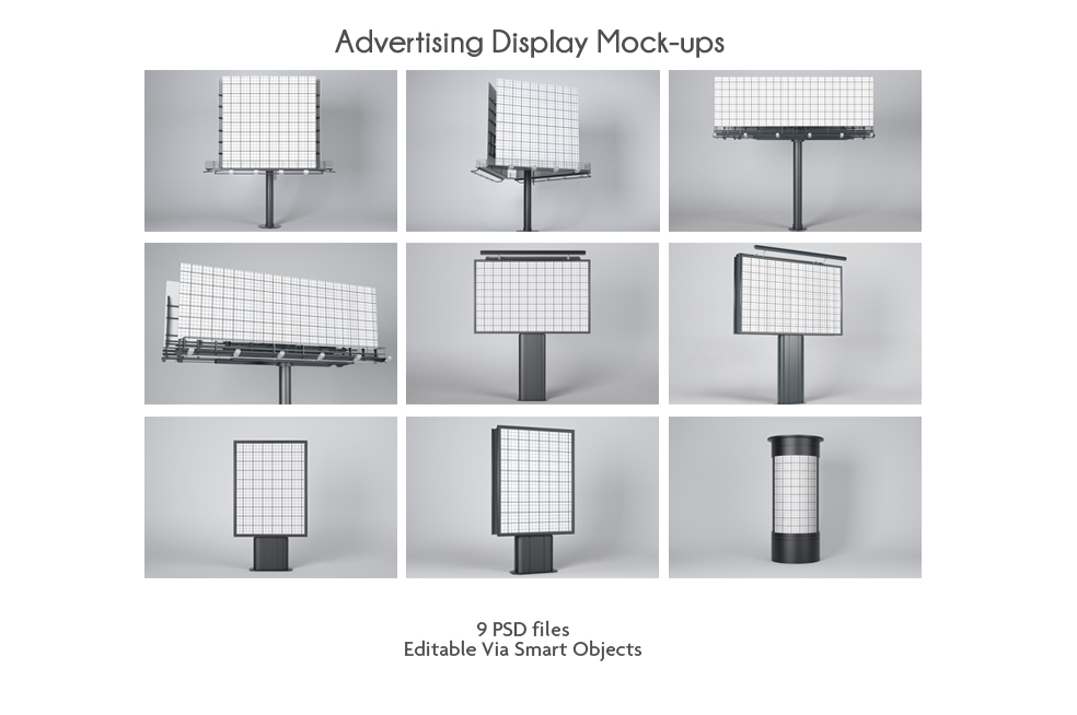 Advertising Display Mock-ups