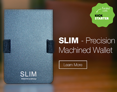 SLIM - Precision Machined Wallet