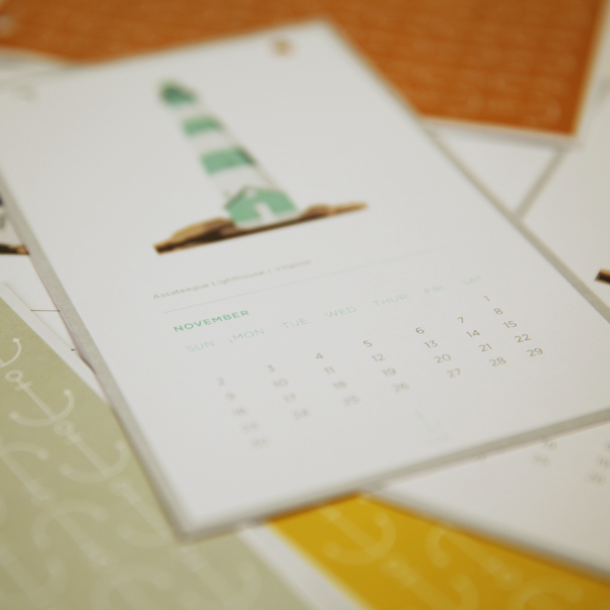 2014 Lighthouse calendar illustrations.
