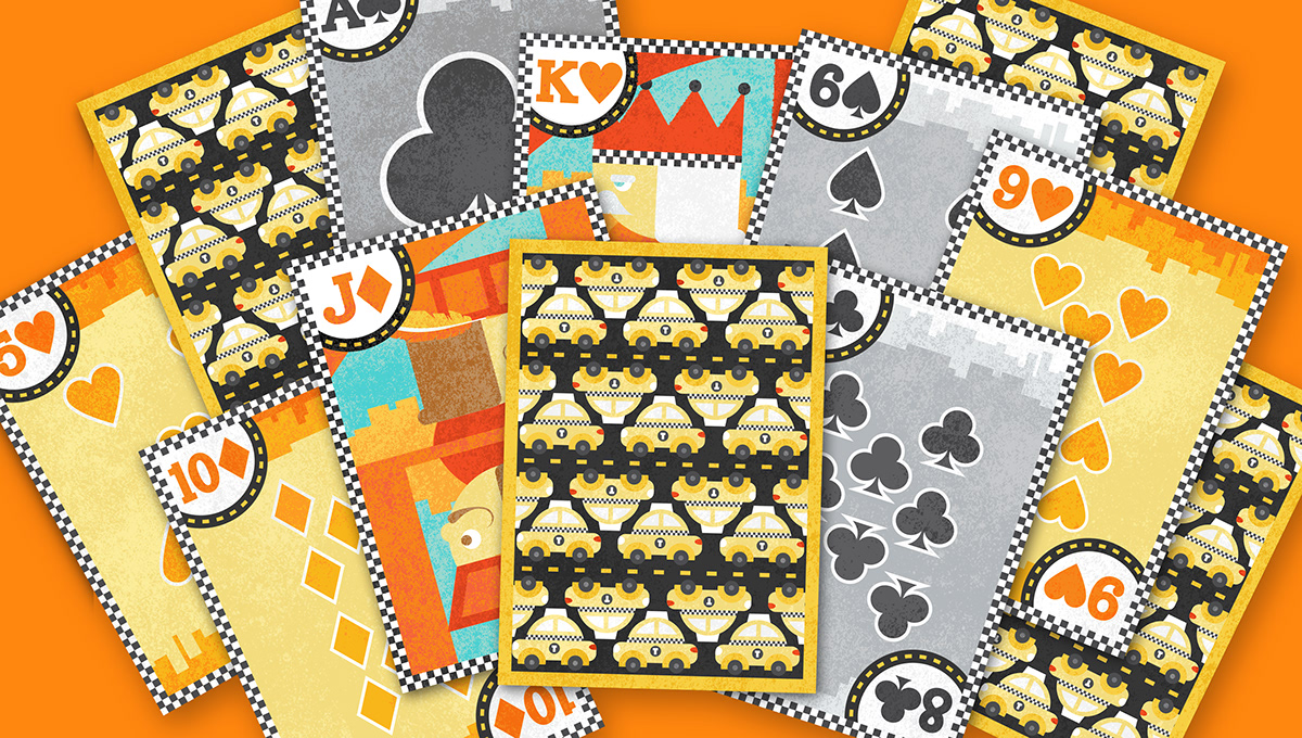 Taxi Themed Playing Cards