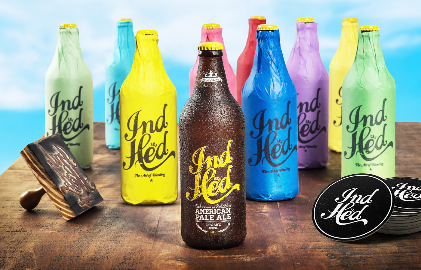 IndHED Premium Craft Beer :: Identity & Package Design